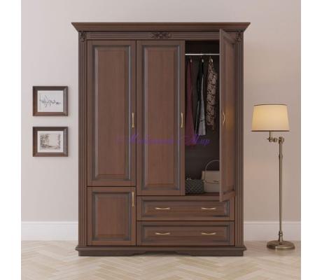 Деревянный шкаф 3 створчатый Палермо с ящиками