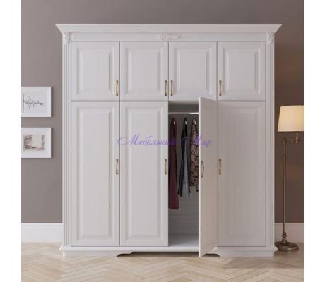 Деревянный шкаф 4 створчатый Палермо дверцы сверху