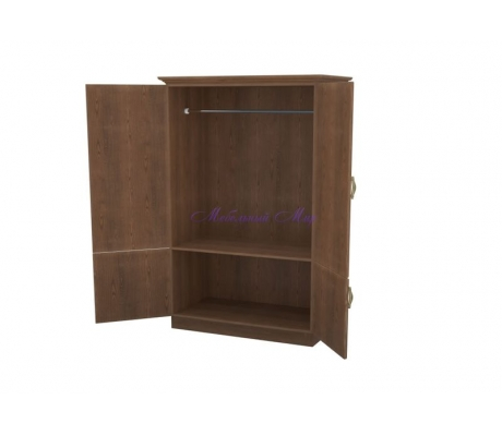 Деревянный шкаф 2 створчатый Эдем дверцы внизу