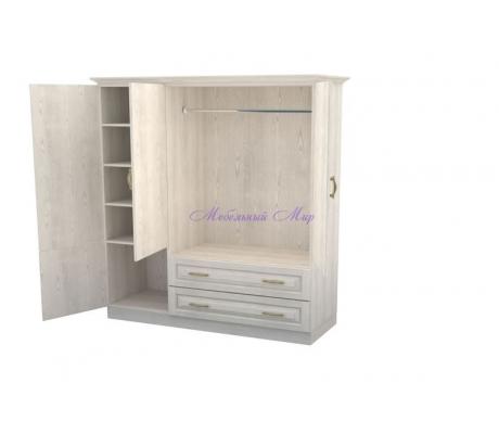 Деревянный шкаф 3 створчатый Эдем с ящиками