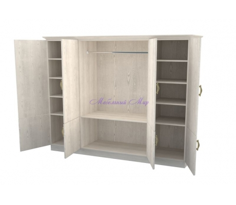 Деревянный шкаф 4 створчатый Эдем дверцы внизу