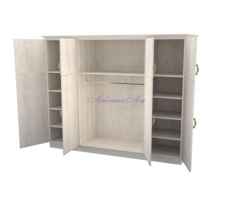 Деревянный шкаф 4 створчатый Эдем дверцы вверху