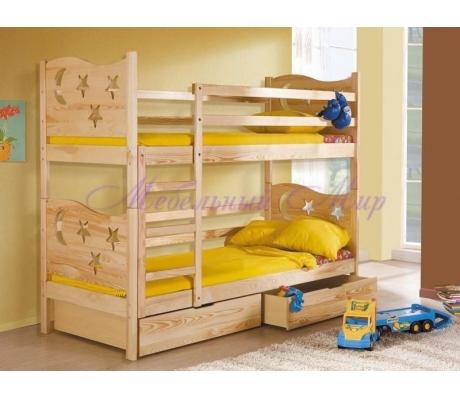 Купить двухъярусную кровать Звездочка 2