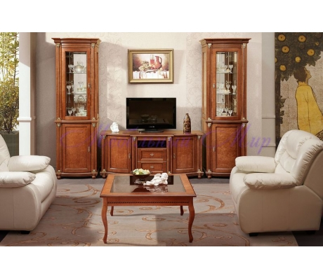 Деревянная гостиная Валенсия Люкс 1