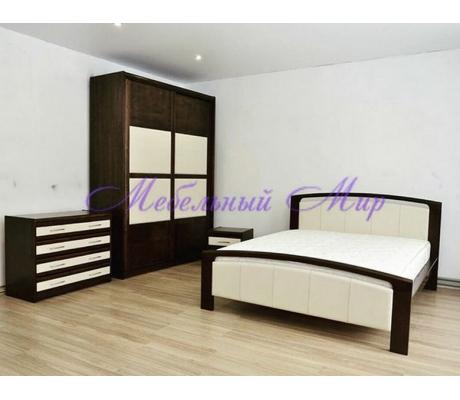 Кровать из массива сосны Бали со вставкой