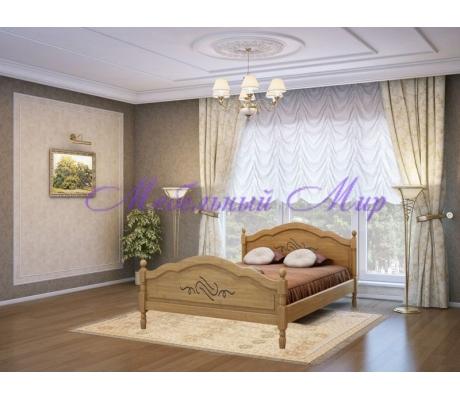 Кровать из массива сосны Лама