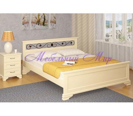 Купить двуспальную кровать Лира с ковкой