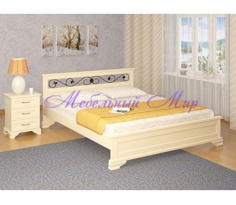 Кровать из массива сосны Лира тахта с ковкой