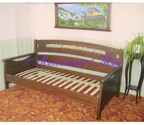 Кровать с ящиками для хранения Луи с ковкой
