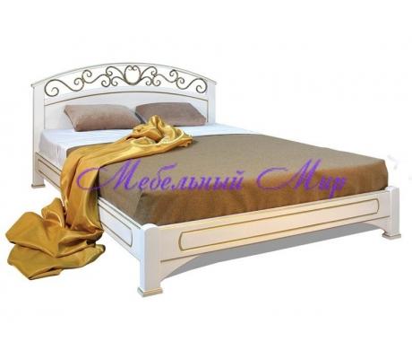 Купить полутороспальную кровать Омега с ковкой