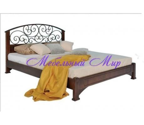 Купить полутороспальную кровать Омега с ковкой 2