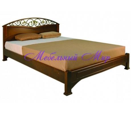 Кровать с элементами ковки Омега 4