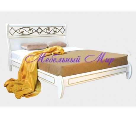 Купить двуспальную кровать Омега с ковкой 5