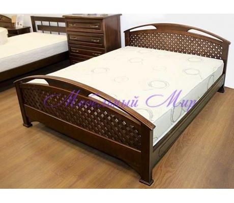 Кровать из массива сосны Омега сетка