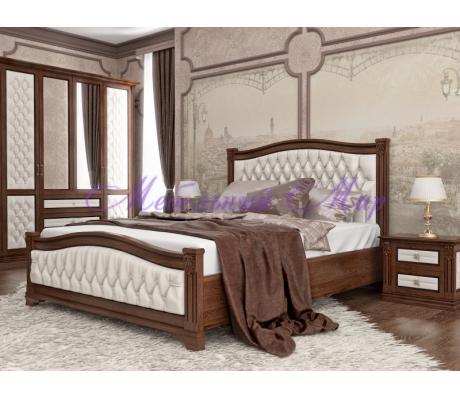 Купить двуспальную кровать Соната 2 с мягкой вставкой