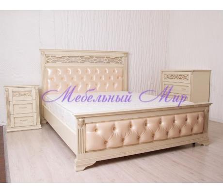 Купить двуспальную кровать Верона со вставкой