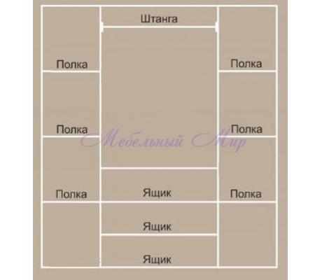 Купить распашной шкаф 4 створчатый Венеция