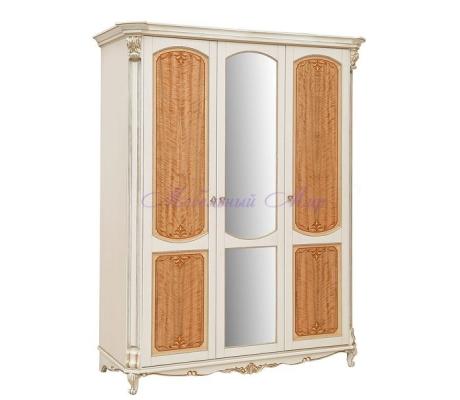 Деревянный 3 створчатый шкаф Альба 2