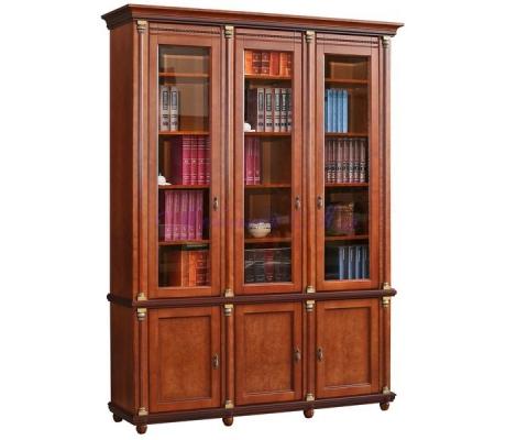 Деревянный 3 створчатый книжный шкаф Валенсия