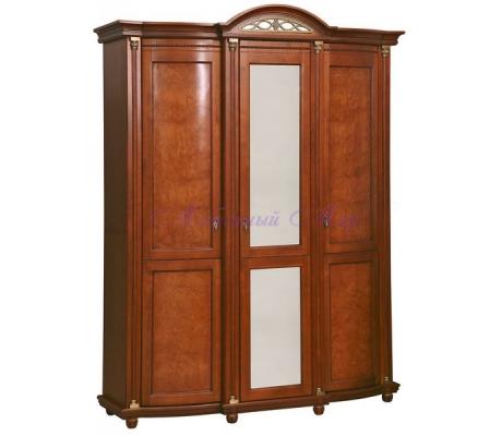 Деревянный 3 створчатый шкаф Валенсия Люкс