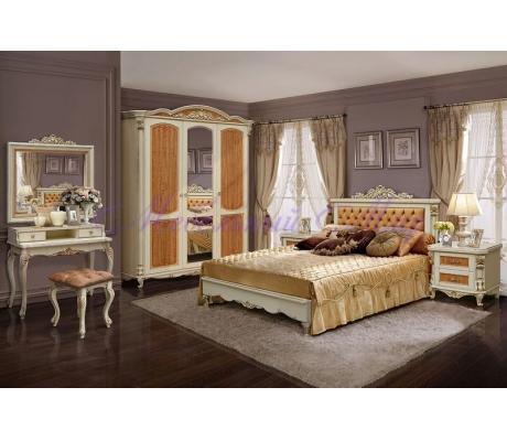 Деревянный спальный гарнитур Альба