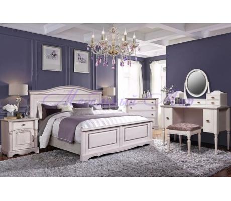 Деревянный спальный гарнитур Паола