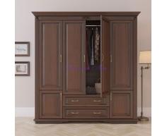Деревянный шкаф 4 створчатый Палермо с ящиками
