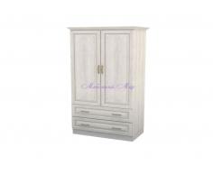 Деревянный шкаф 2 створчатый Эдем с ящиками