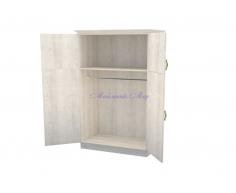Деревянный шкаф 2 створчатый Эдем дверцы вверху