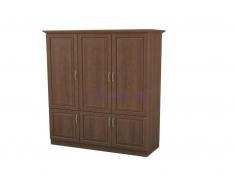 Деревянный шкаф 3 створчатый Эдем дверцы внизу