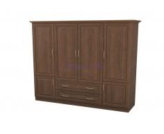 Деревянный шкаф 4 створчатый Эдем с ящиками