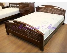 Кровать из массива на заказ  Омега сетка