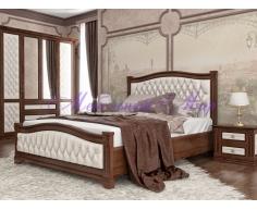 Деревянная кровать Соната 2 с мягкой вставкой