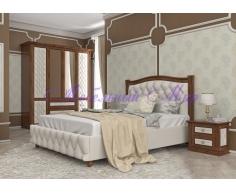 Деревянная кровать Соната 2 тахта с мягкой вставкой