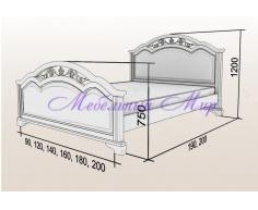 Купить полутороспальную кровать Венеция