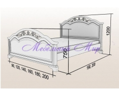 Купить двуспальную кровать Венеция