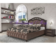 Кровать с элементами ковки Венеция тахта 2