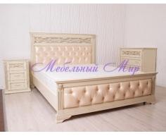 Кровать из бука от производителя Верона со вставкой