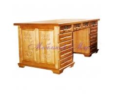 Письменный стол для дома Сенатор резной