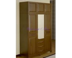 Купить распашной шкаф 3 створчатый Муза с зеркалом