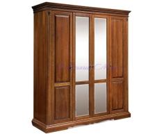 Деревянный 4 створчатый шкаф Милано 1