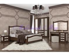 Спальный гарнитур Соната 2 с мягкой вставкой