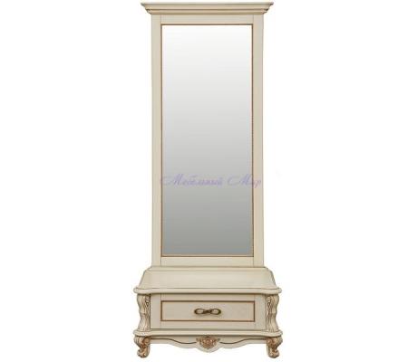 Деревянное зеркало Алези с тумбой