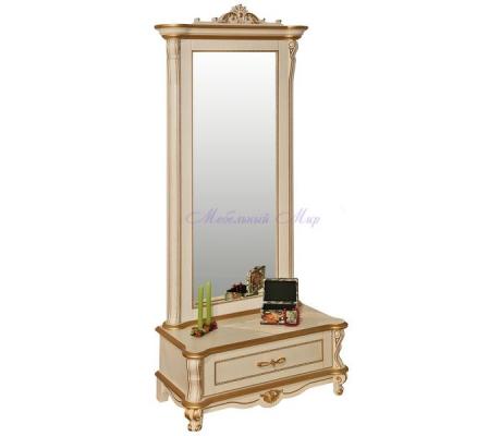 Деревянное зеркало Алези с тумбой Люкс