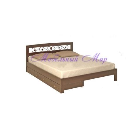 Недорогая односпальная кровать Жоржетта тахта с ковкой
