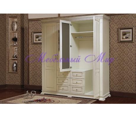Купить распашной шкаф 4 створчатый Верди 1005