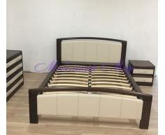 Кровать из массива дерева Бали со вставкой