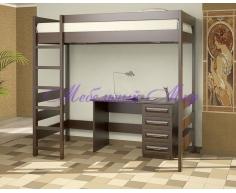 Купить двухъярусную кровать Икея чердак с письменным столом