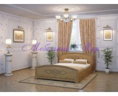 Кровать из массива дерева Гера