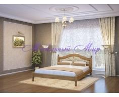 Кровать из массива дерева Герцог тахта со вставкой